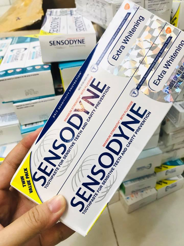 Set 2 Kem Đánh Răng Sensodyne Extra Whitening Toothpaste 113g