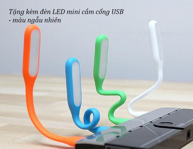 Hộp đựng bút để bàn kiếm đèn led 20 bóng siêu sáng 8002 ( Tặng kèm 01 đèn led cắm cổng usb màu ngẫu nhiên )