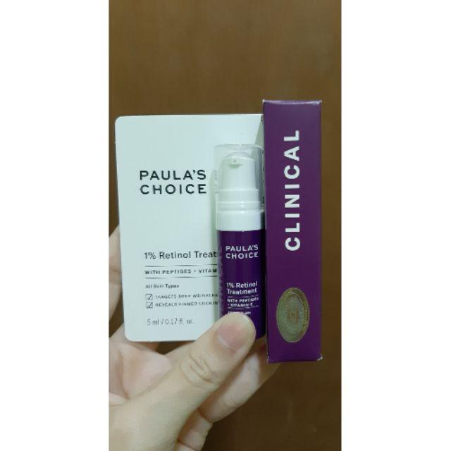 Trial Tinh chất Làm Mờ Vết Nám và Đốm Nâu Paula's Choice Clinical 1% Retinol Treatment 5 ml