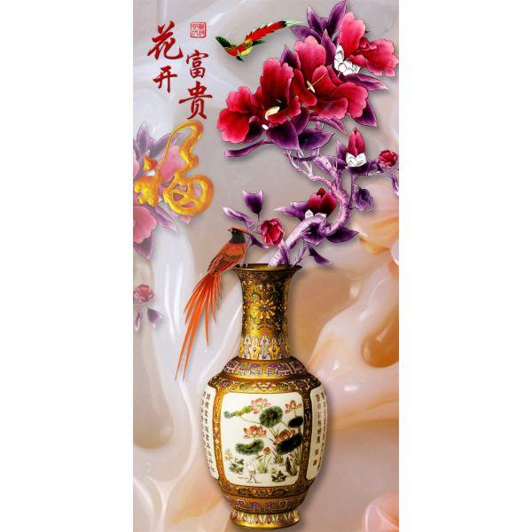 Decal Dán Tường - Tranh Bình Hoa - T3M--1829-copy