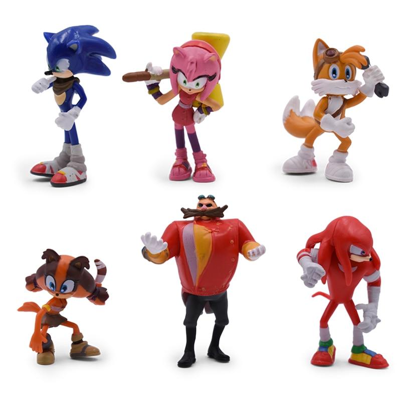 Bộ 06 Mô Hình Nhân Vật Game Nhím Sonic