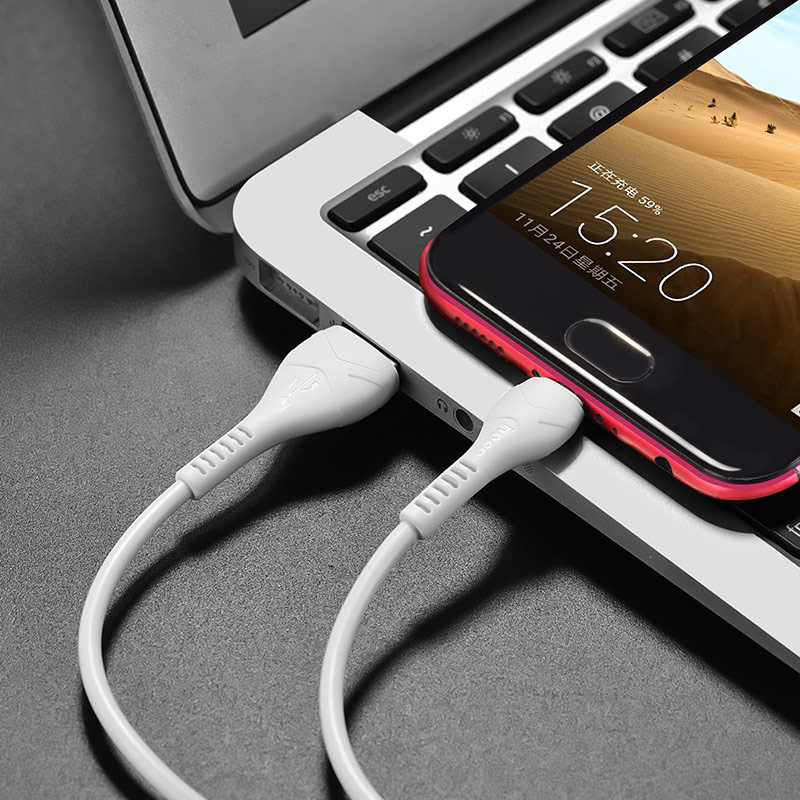 Cáp sạc dẹt chuẩn Micro USB Hoco, hỗ trợ sạc nhanh 2.4A, chất liệu TPE siêu bền, hạn chế rối, dài 100cm dành cho Samsung, Xiaomi, Huawei, Vivo, Sony, X40 - Hàng chính hãng