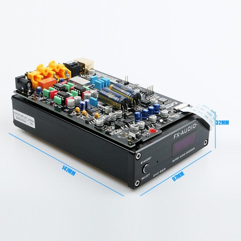 DAC nghe nhạc Lossless FX Audio SQ5 - DAC giải mã 24Bit 192Khz Hi-res - Hàng Chính Hãng