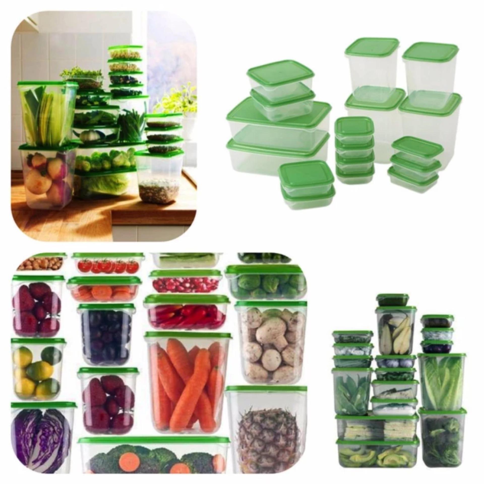 Set 17 hộp đựng thực phẩm trong tủ lạnh đa năng