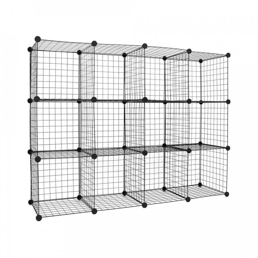Tủ lưới lắp ghép đa năng 12 ô (147 x 111 x 37 cm)
