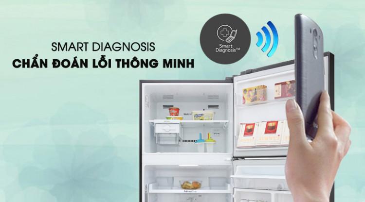 Tủ lạnh LG Inverter 393 lít GN-D422BL - Khắc phục lỗi nhanh với tính năng thông minh Smart Diagnosis
