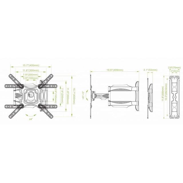 Giá treo tivi Đa năng 180 độ (32-55)P4 mẫu mới nhất