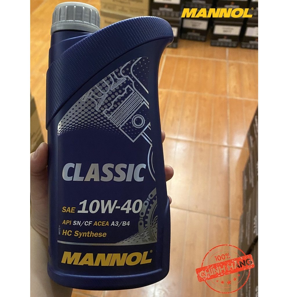 Nhớt MANNOL 7501 Classic SAE 10W-40 API SN/CF 1 Lít Can Nhựa Tổng Hợp Đa Cấp HC Đa Năng