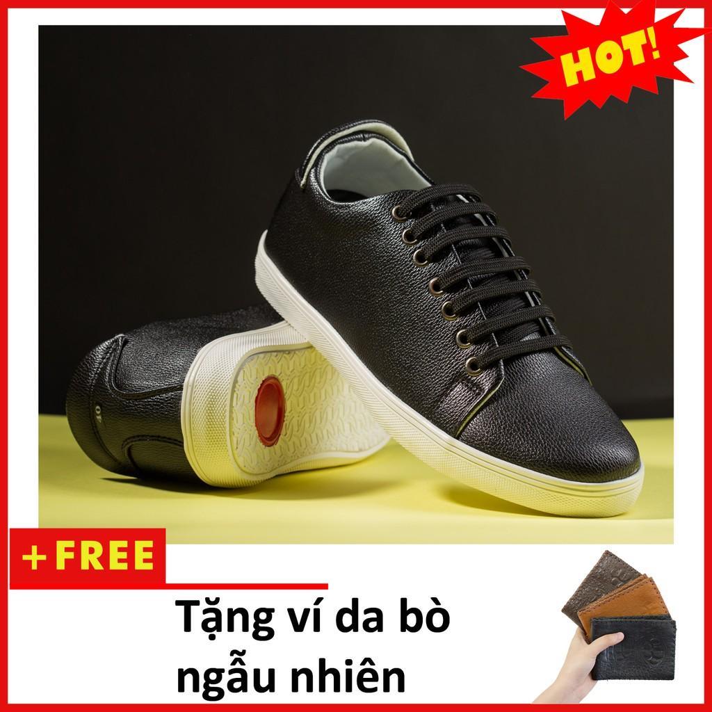 Giày Thể Thao Nam Màu Đen Tăng Chiều Cao 6Cm Không Hề Lộ Cực Đẹp - Cực Chất - M360-DEN(V)-DEN