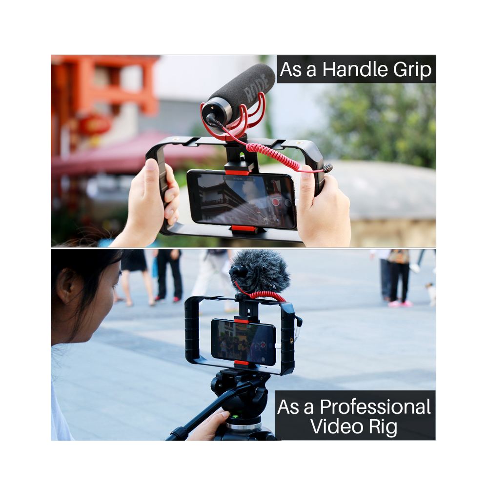 Phụ Kiện Quay Video Vlog, Khung Quay Video Cho Điện Thoại Ulanzi U-rig Pro, Tiện Lợi, Bền Vững   Hàng Chính Hãng