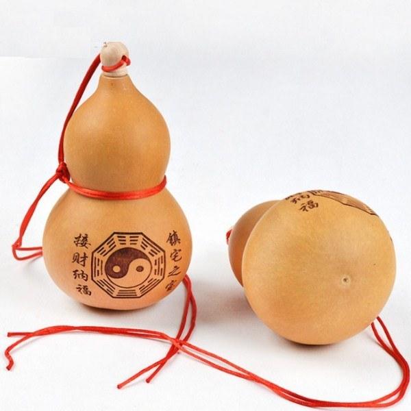 Hồ lô phong thủy chiêu Tài - Lộc, Khắc Lazer (cao 17-20 cm) - Giao mẫu ngẫu nhiên