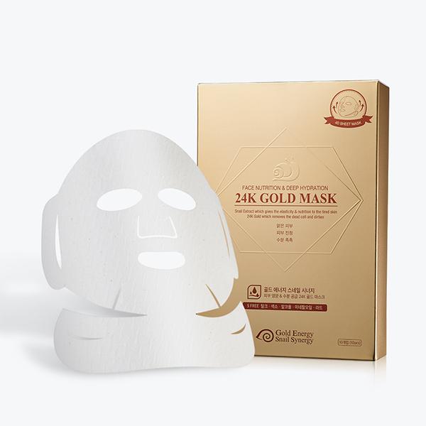 Mặt nạ nuôi dưỡng & cấp nước dành cho da dầu GOLD SNAIL Mask Pack (Nutrition + Hydration) (hộp 10 miếng 33g)