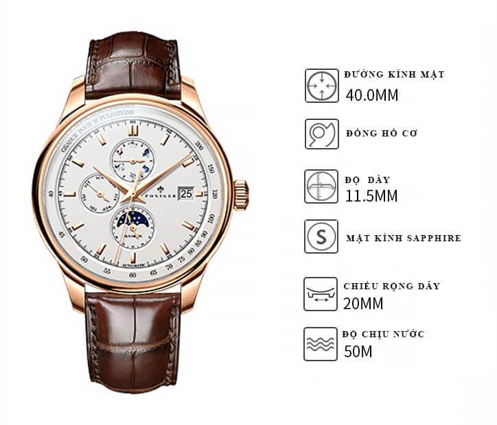 Đồng hồ nam chính hãng Poniger P8.15-1