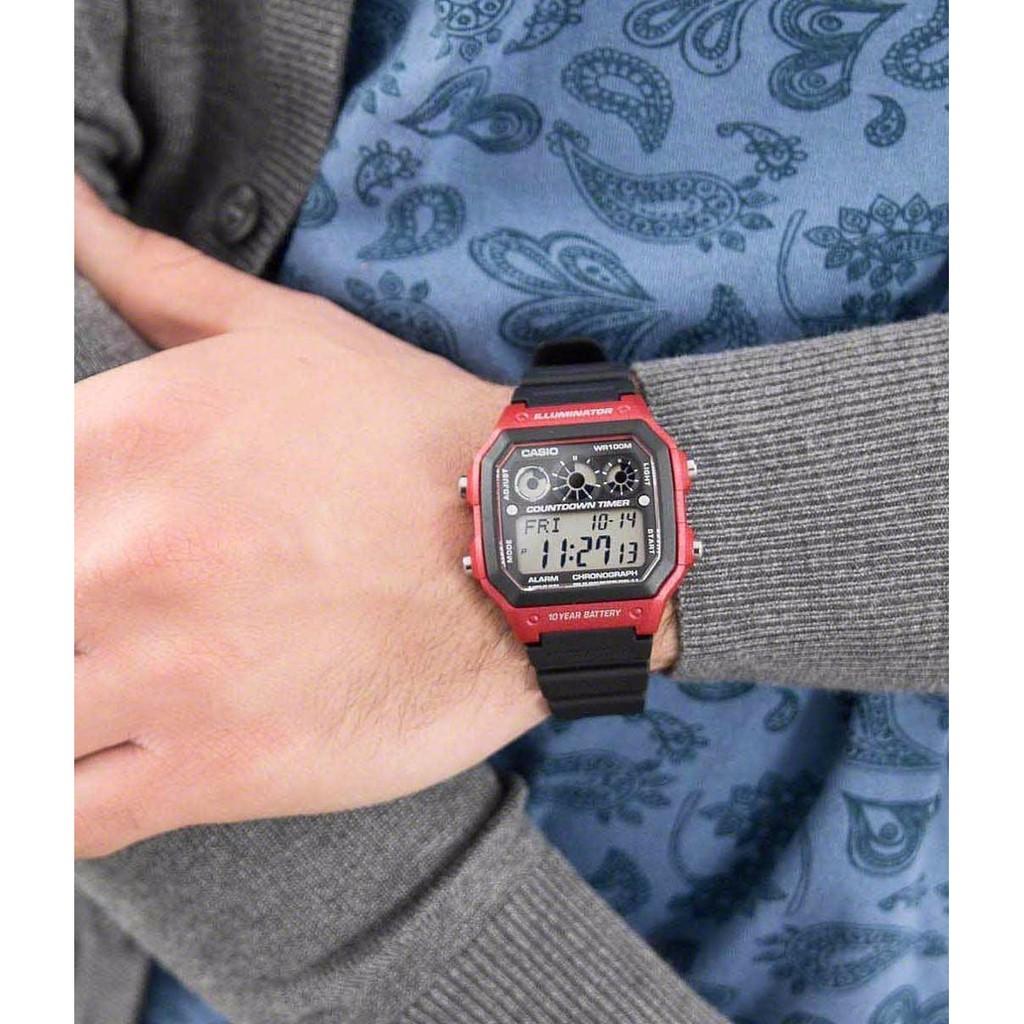 Đồng hồ nam dây nhựa Casio AE-1300WH-4AVDF