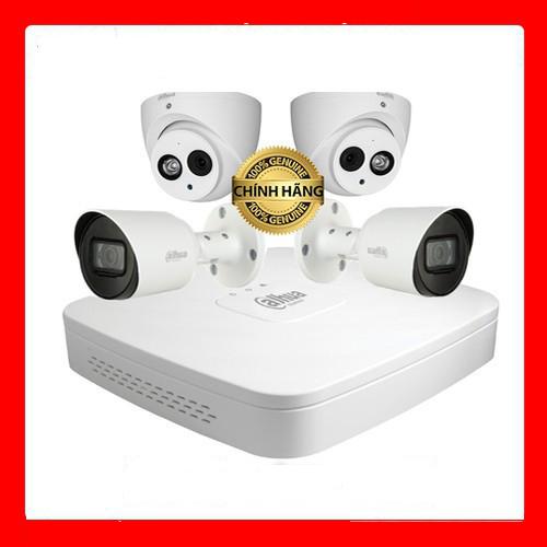 Trọn bộ 4 Camera Dahua 4M tích hợp mic tùy chọn ổ cứng -  Hàng chính hãng