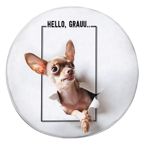 Gối Ôm Tròn Chihuahua Hello GOAA064