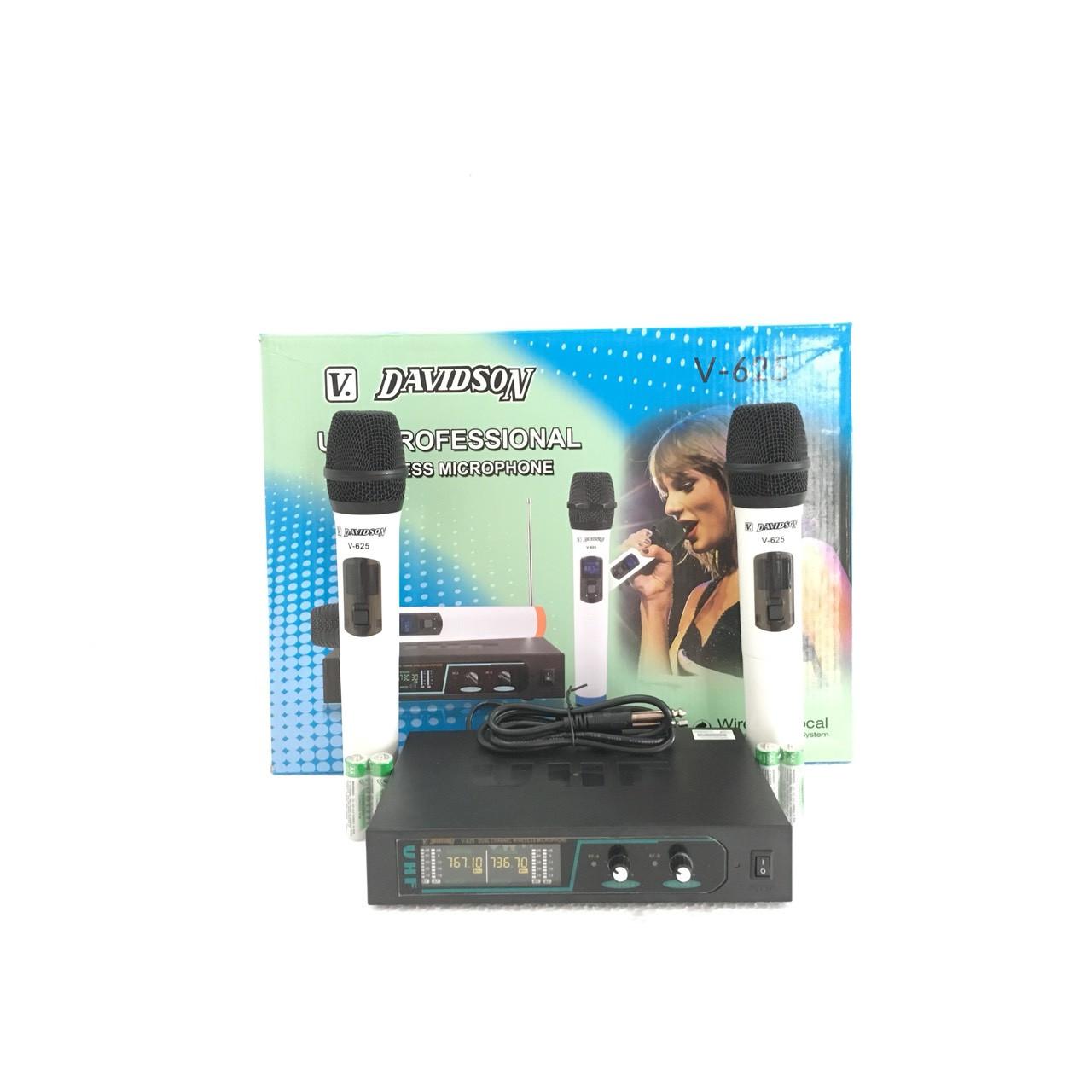 """Micro amply """"DAVIDSON V625"""" karaoke cao cấp  - SẢN PHẨM CHÍNH HÃNG"""