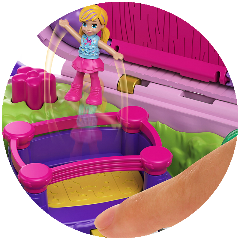 Đồ Chơi Búp Bê POLLY POCKET Polly Pocket Và Bữa Tiệc Bất Ngờ Cùng Rainbow Unicorn GKL24