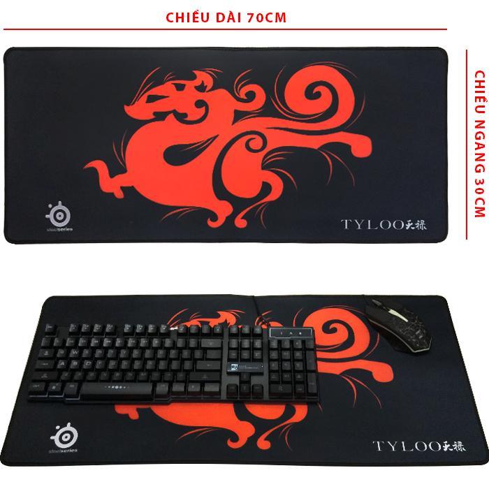 Lót Chuột Đẹp Rồng Đỏ  ( 70 x 30cm )