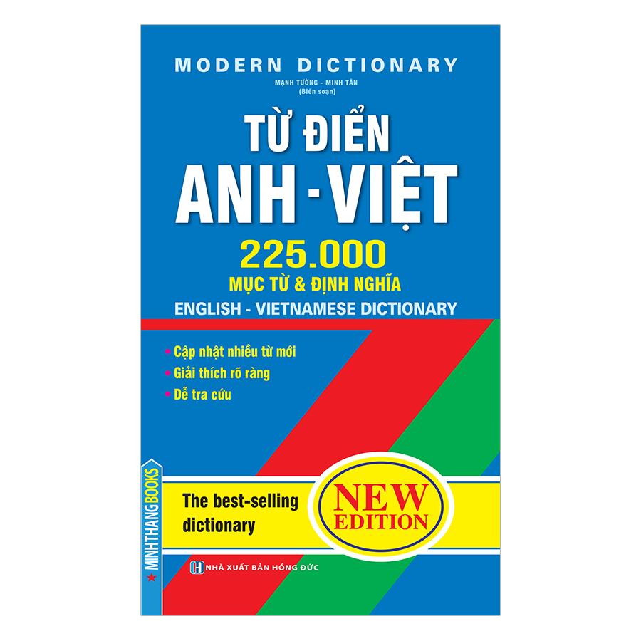 Từ Điển Anh Việt 225000 Mục Từ Và Định Nghĩa (Bìa Mềm)