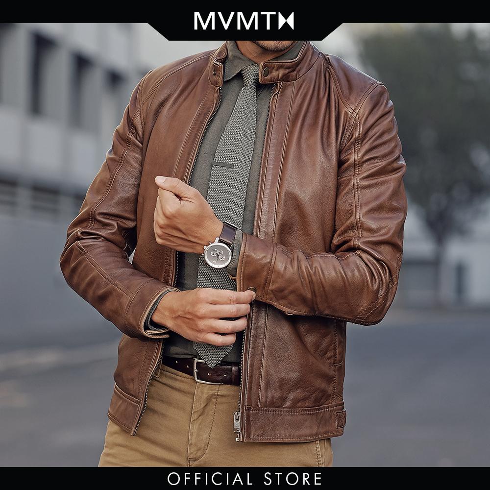 Đồng hồ Nam MVMT dây da 45mm - Chrono D-MC01-SBRL