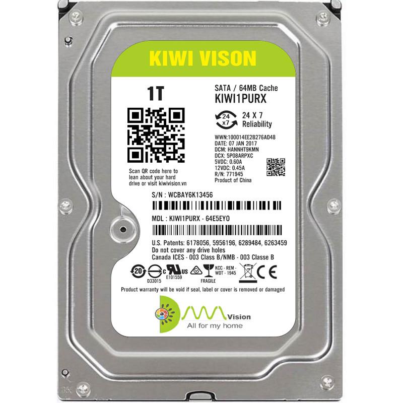 Ổ cứng HDD KIWI VISION 1TB SATA 3 - Hàng chính hãng