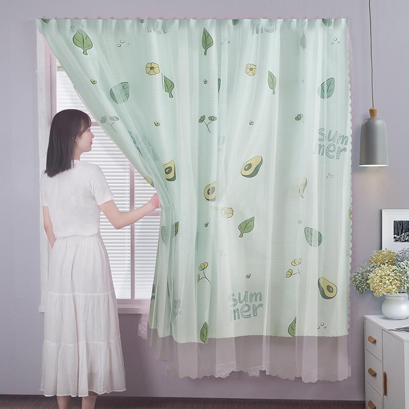 Rèm cửa dán 2 lớp Marytexco họa tiết sinh động cho cửa sổ phòng ngủ, ký túc xá, dán tường trang trí decor tự dính, không cần khoan và thanh treo, chất liệu mỏng nhẹ, họa tiết tươi tắn sinh động