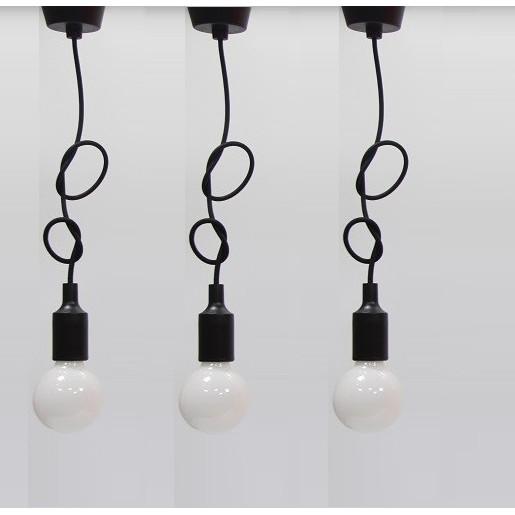 Bộ 3 dây đèn thả trang trí bóng thủy tinh đục G80 7W