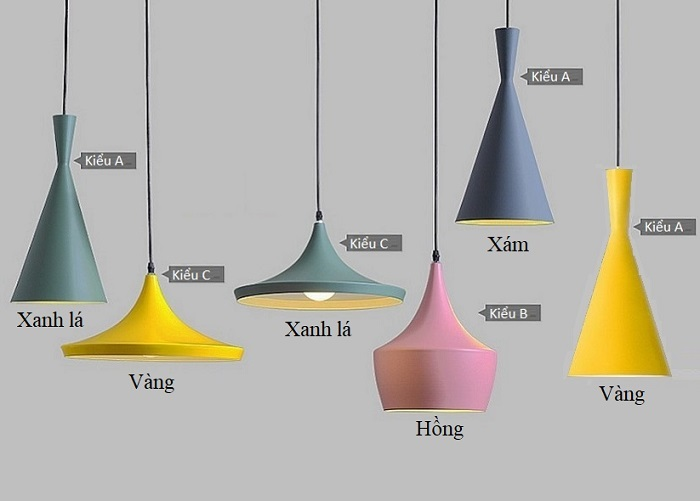 Đèn thả trần kiểu dáng Bắc Âu, đèn thả bàn ăn, đèn trang trí hàng chính hãng.