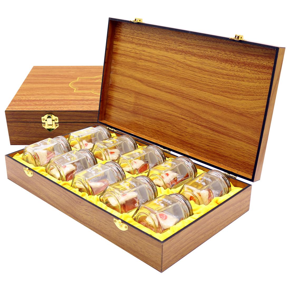 Yến Sao Song Viêt - Hộp gỗ 10 phần yến