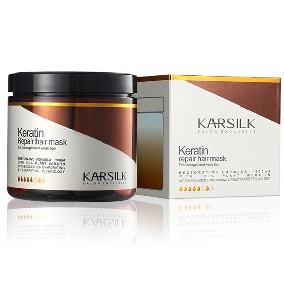 Kem hấp ủ Karsilk Keratin Repair hair mask phục hồi tóc hư tổn (Keratin tươi)  800ml