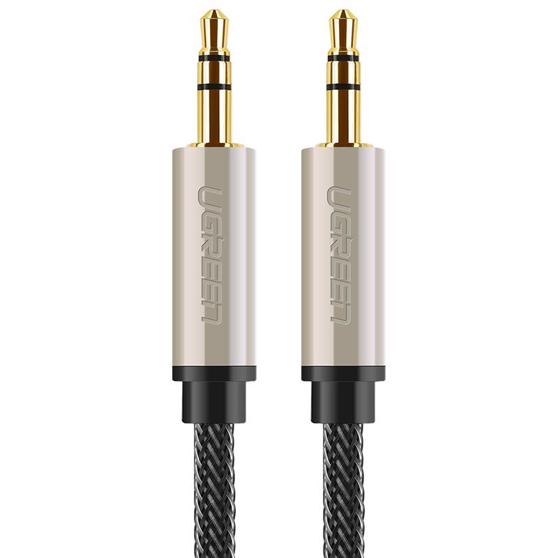 Cáp âm thanh Aux chuẩn 3.5mm mạ vàng 24K cao cấp dài 15M UGREEN AV125 40787 - Hàng chính hãng