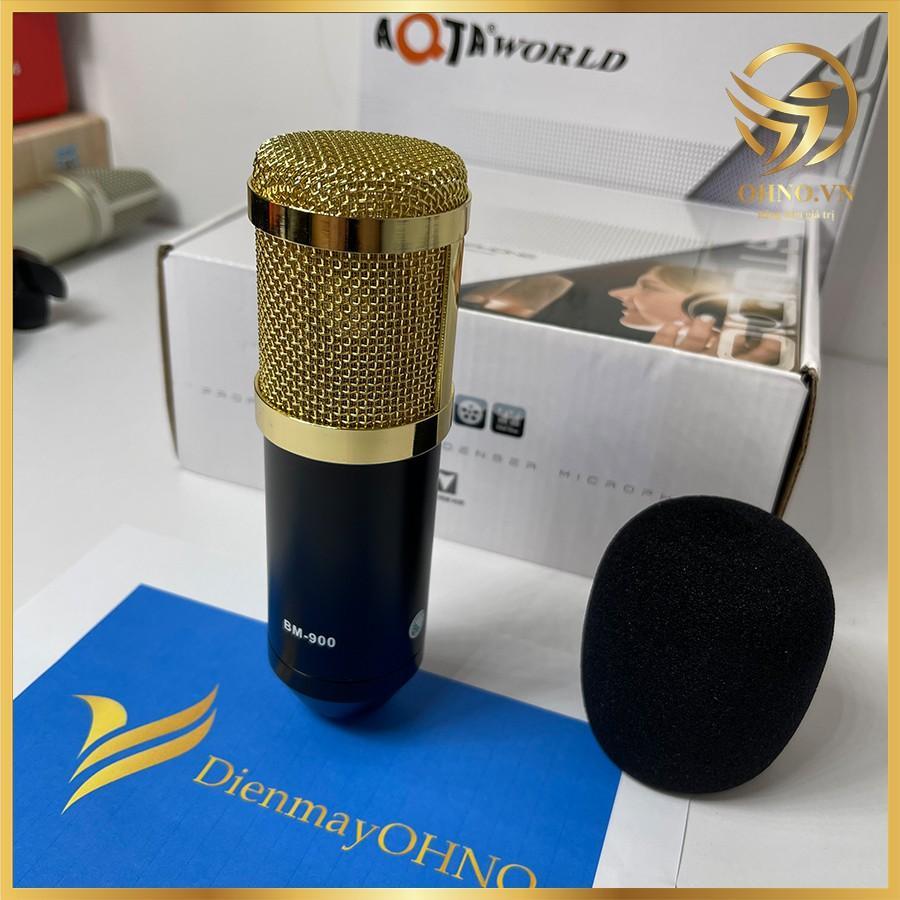 Mic Thu Âm Livestream Hát Karaoke Thu Âm Cho Điện Thoại Cao Cấp BM 901 Micro thu âm