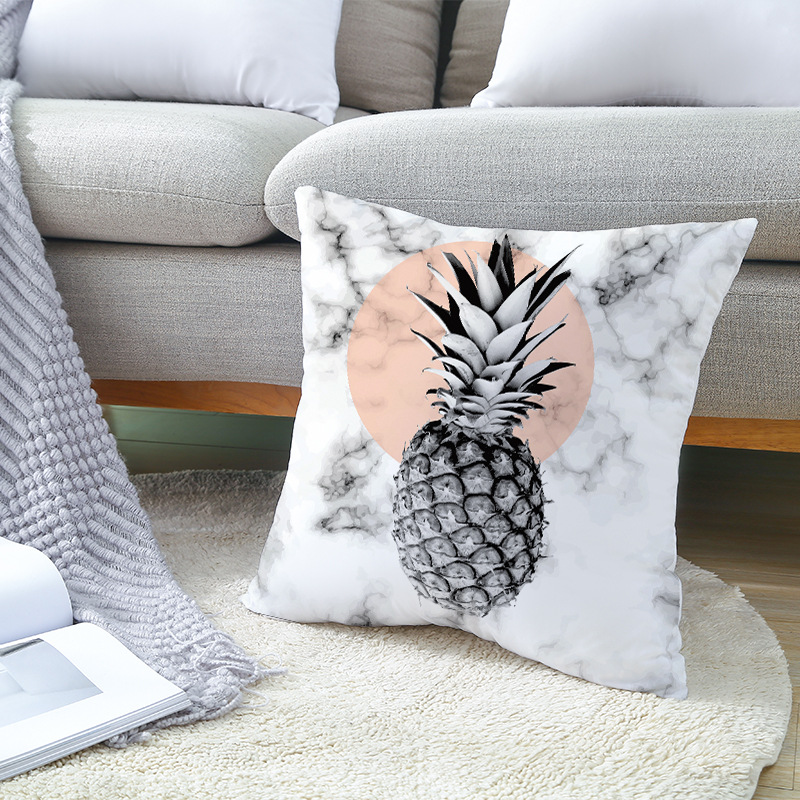 Vỏ Gối Tựa Lưng Trang Trí Sofa Nhung Tuyết Trái Thơm