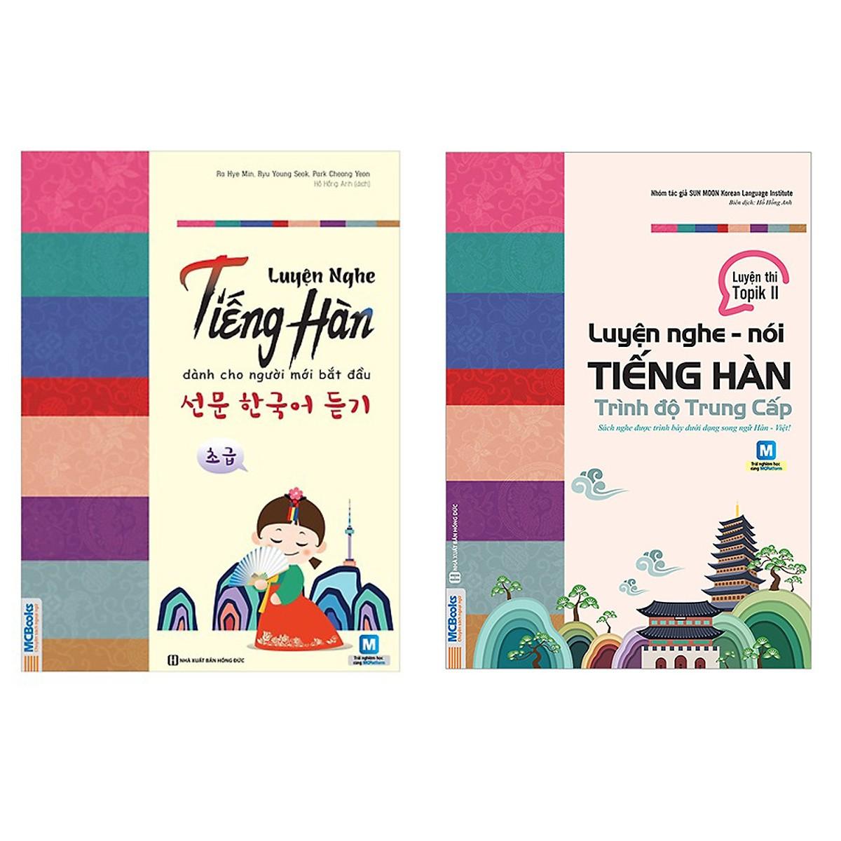 Combo Luyện Nghe Tiếng Hàn Dành Cho Người Mới Bắt Đầu và Trình Độ Trung Cấp