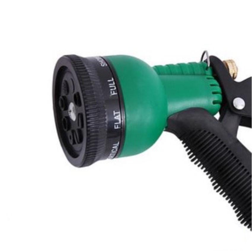 Vòi xịt rửa xe,Vòi phun nước tưới cây tăng áp thông minh 8 chế độ 815498 (cút vàng,nối đen - dây vàng)