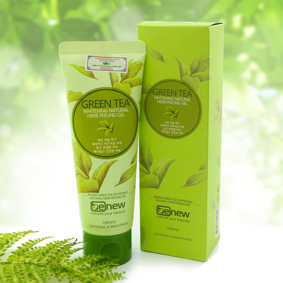 Tẩy da chết trà xanh cao cấp Hàn Quốc Benew Green Tea Peeling Gel (120ml)
