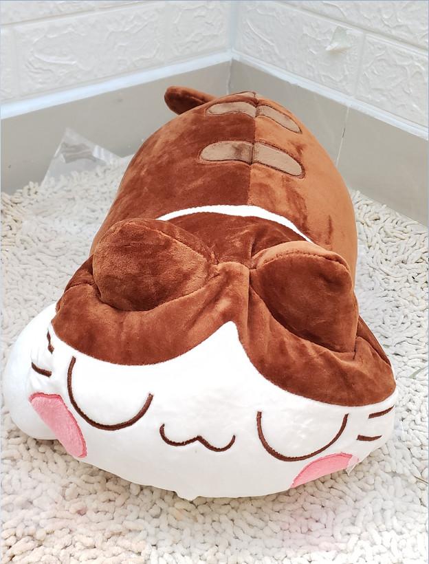 GỐI MỀN 3 in 1 hình chú mèo ngủ siêu cute, nỉ nhung siêu mịn, bộ chăn gối văn phòng, gấu bông kèm mền GM77-MeoLuoi