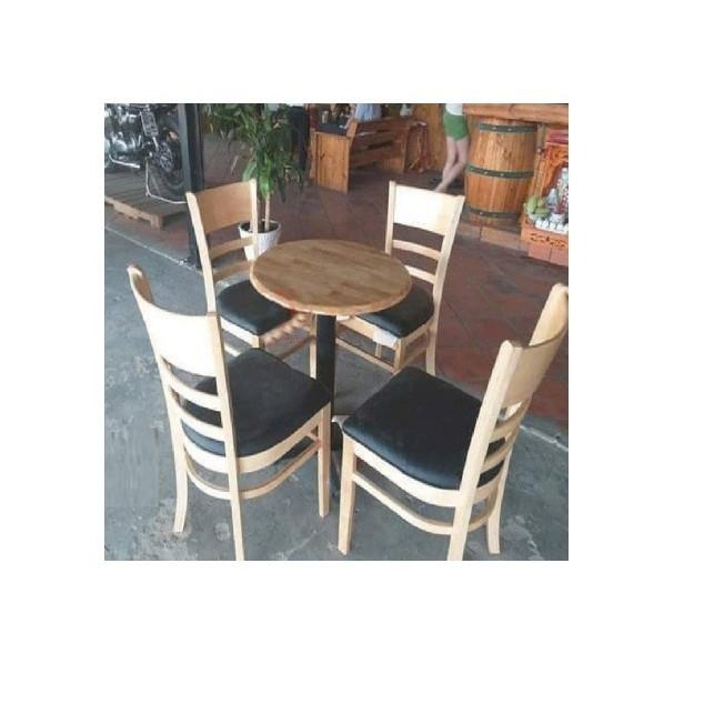 Bộ bàn tròn chân sắt 4 ghế cabin
