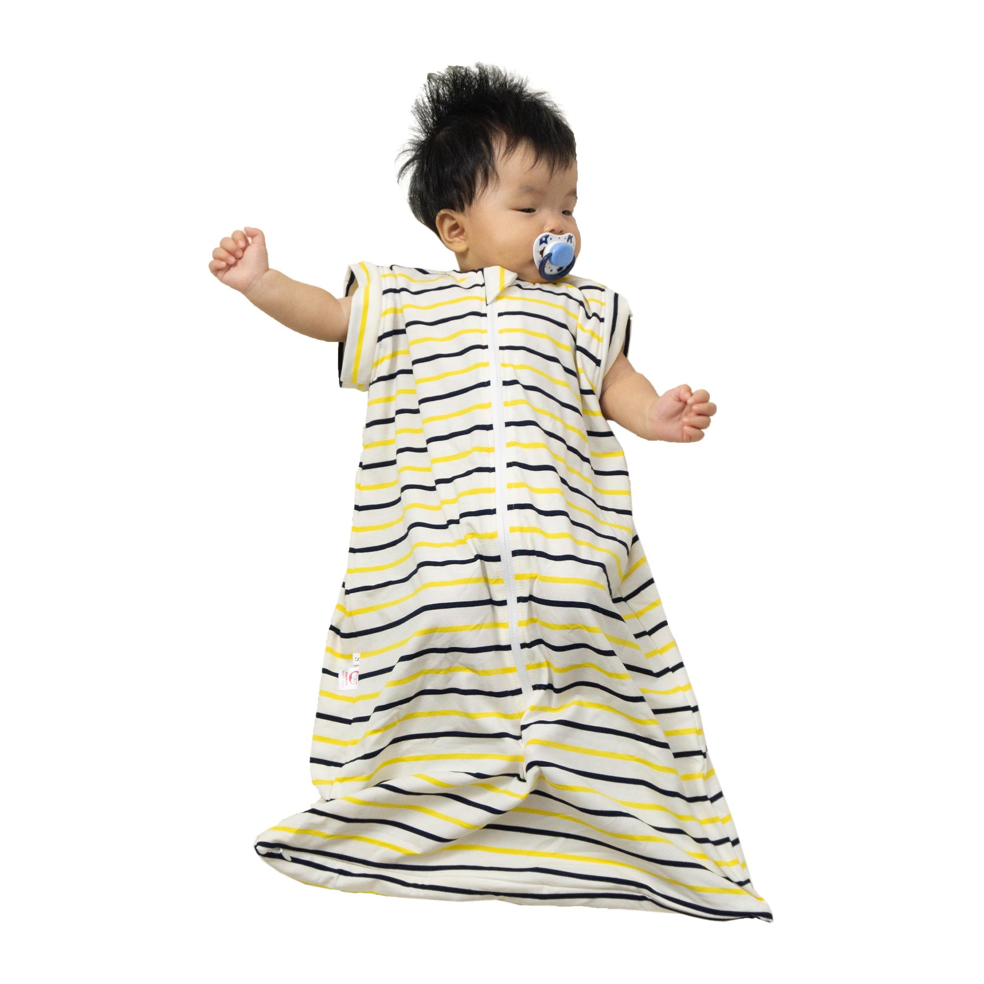 Túi Ngủ Cho Bé Dùng Hè Thu - Tặng Kèm Tay Áo - Vải cotton co giãn 4 Chiều An Toàn Cho Bé