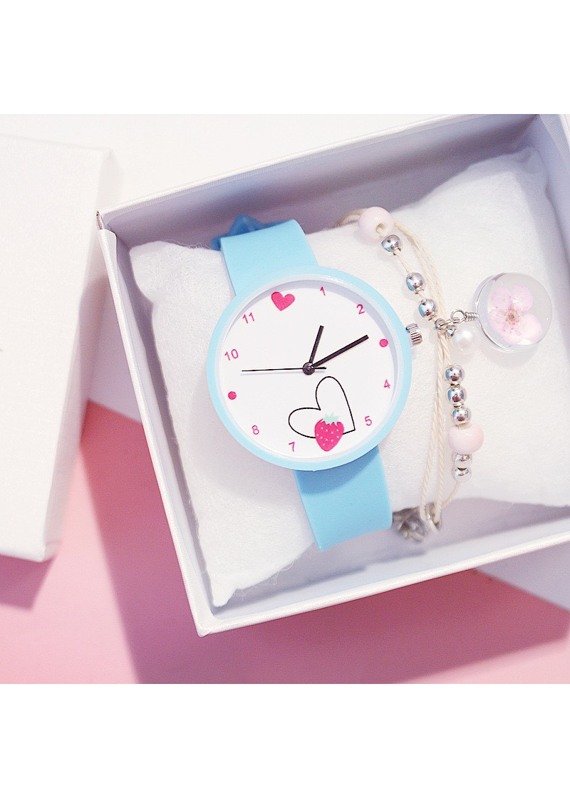 Đồng hồ thời trang candycat nữ mặt trái tim dây silicon ZO35