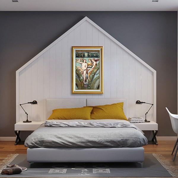 Tranh Nghệ Thuật Thời Phục Hưng Phong Cách Sơn Dầu Canvas Có Viền W1148 (40 x 60 cm)