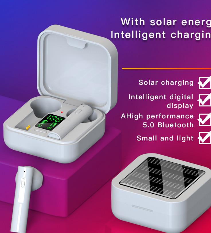 Tai nghe Không dây Bluetooth 5.0 AI6 plus có hộp sạc, thiết kế mini, dùng để chơi game sạc pin hấp thụ năng lượng mặt trời - Hàng chính hãng Like Tech