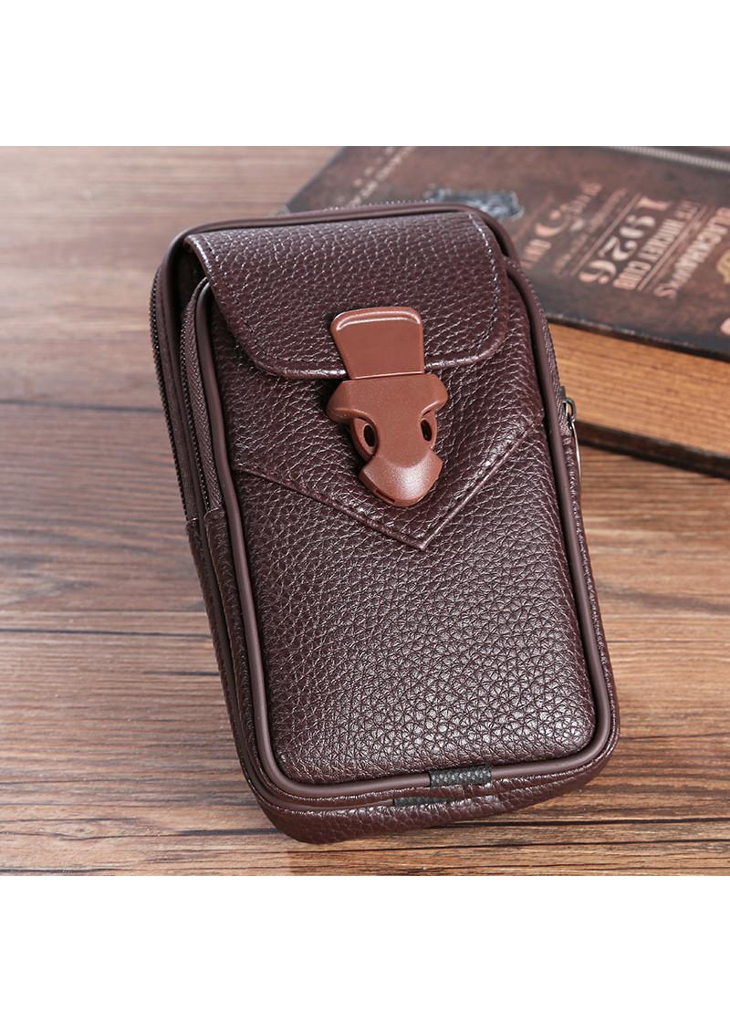 Túi đeo ngang hông da đựng điện thoại Zipper thời trang cao cấp KMD3