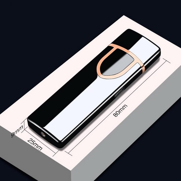 Bật lửa điện cảm ứng vân tay siêu mỏng gọn - Màu ngẫu nhiên