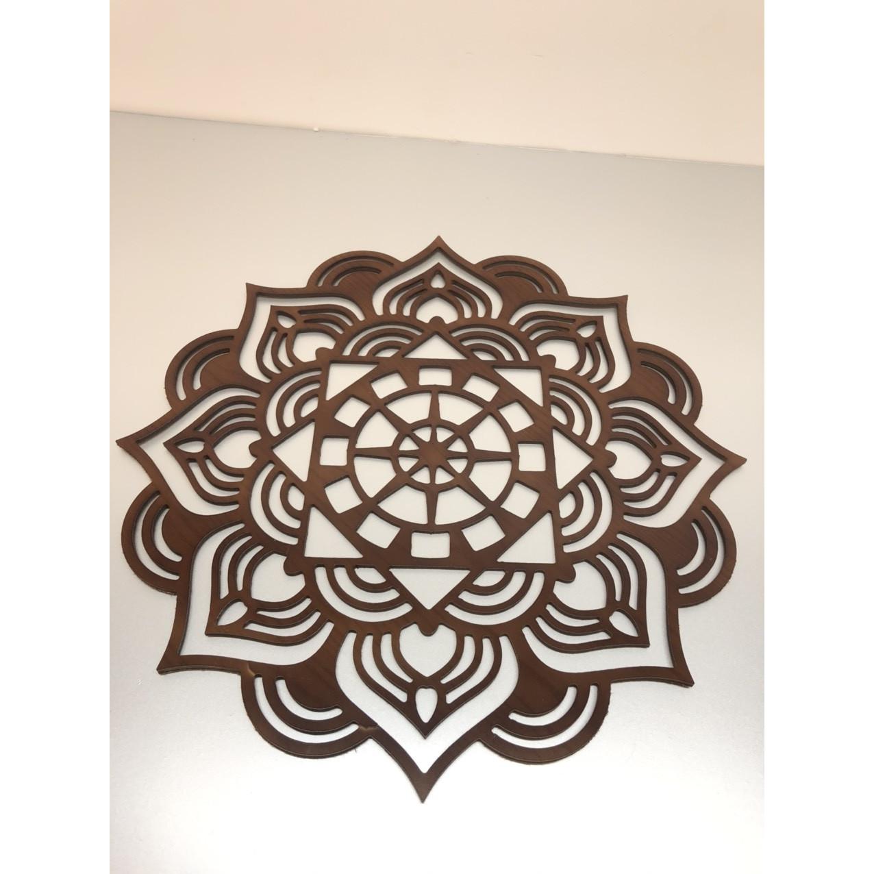 Tấm trang trí ốp lưng bàn thờ treo , mẫu hoa sen nâu BH613