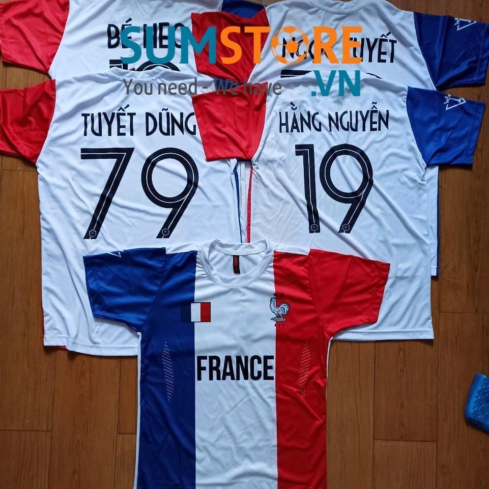 Bộ quần áo bóng đá Tuyển Pháp - Đồ đá banh Độc Nhất 2020