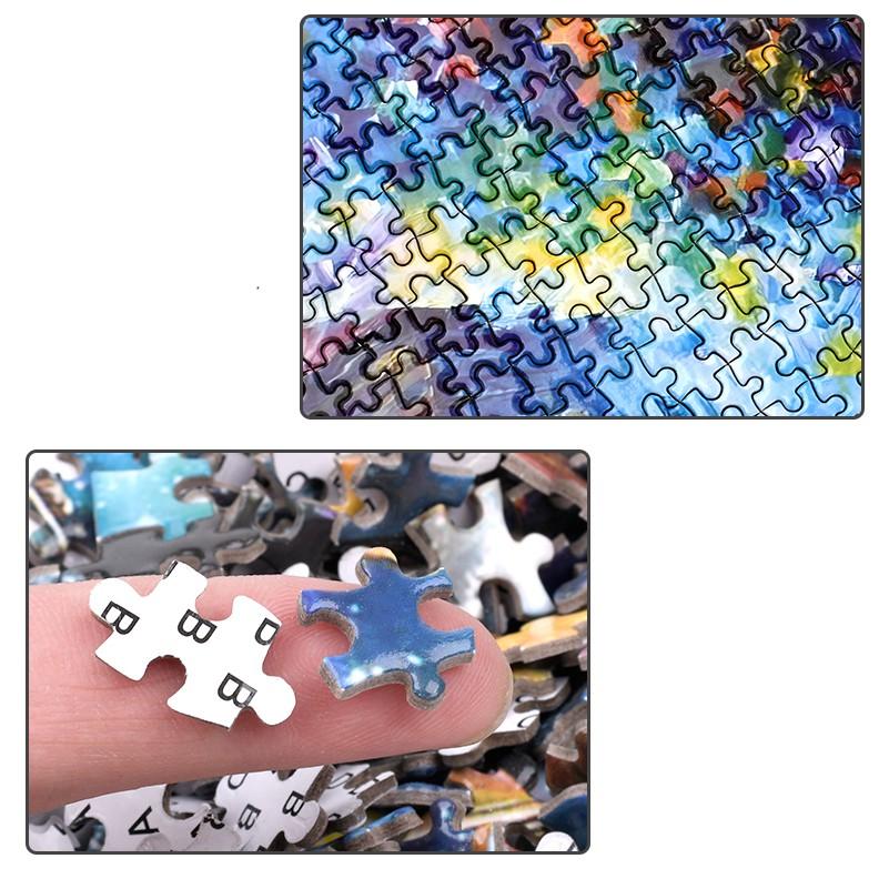 Bộ Tranh Ghép Xếp Hình 1000 Pcs Jigsaw Puzzle (Tranh ghép 70*50cm) Son Môi Bản Thú Vị Cao Cấp