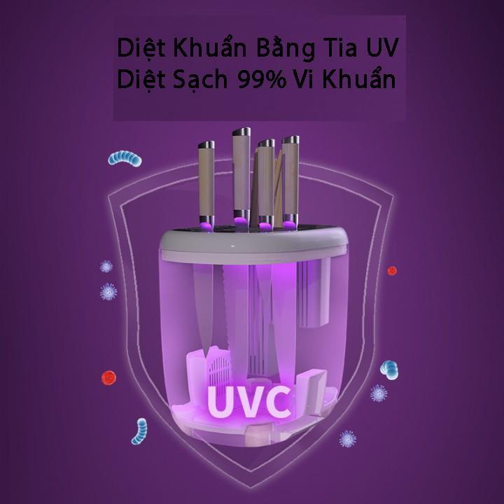 Giá Đựng Dao Đũa nhà bếp diệt khuẩn bằng tia UV giúp diệt 99,9% vi khuẩn - Kệ đựng dao kéo nhà bếp chính hãng