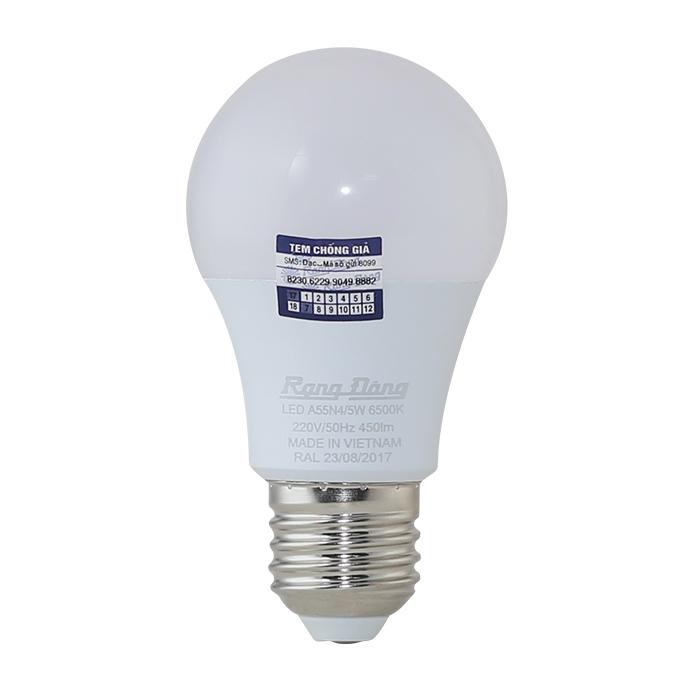 Bóng đèn LED Rạng Đông 5W, Ánh sáng Vàng, sử dụng ChipLED Samsung
